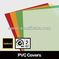 pvc brilhante capa de livros de folhas de plástico