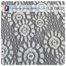 Nylon y spandex elástico del cordón de la tela de lujo del vintage de encaje de tela para el vestido de boda de la flor con la tela de encaje