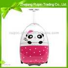 cool cute panda pattern abs two wheels children trolley case cartoon char