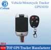 GPS Tracker for motocycle Support GPS and LBS double tracking solutions