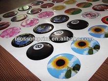 Circular epoxy resin label sticker
