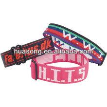 Hot saling polyester hollow woven wristband,tyvek wristbands for polyester hollow woven,custom wristband(M-253)