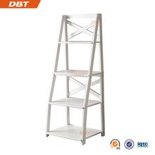 portable 4 ladders bookshelf in white finish