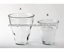 Transparent premium glass vase