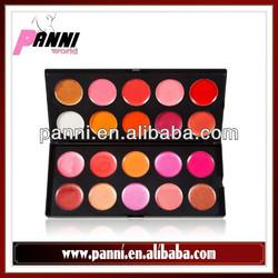 2014 hot sale glitter lip gloss 20 color charming lipstick makeup kit