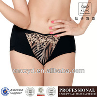 Cotton black animal lace Sexy women panties underwear