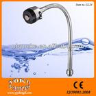 single handle chrome long neck kitchen faucet