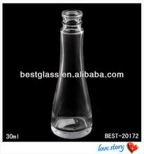 30ml clear bowling shape glass perfume bottles, mould perfume bottles, special shape glass bottle for perfume