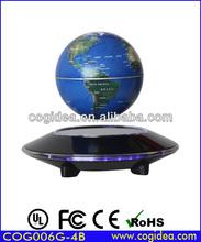 UFO shape plastic base magnetic floating globe rotating for teaching and novelty gift