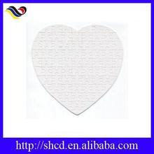 Promotional Heart Shape Sublimation Blank Jigsaw Puzzle