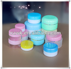PS Ointment box with different color, different capacity, plastic jar for cosmetic cream