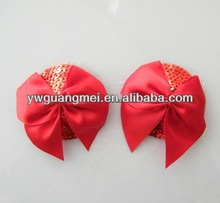 red sequins nipple cover