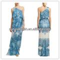 Occidental de las señoras vestido de alibaba diseños, escote de un hombro por la noche/vestidos de fiesta( ylq03301)