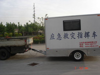Professional manufacturer! box camping motorcycle trailer
