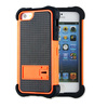 New Design Orange Rugged Rubber Case with Kickstand For iPhone 5S