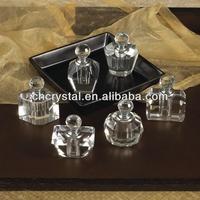 antique crystal glass perfume fragrance bottle , clear mini cute glass perfume bottle MH-X0648