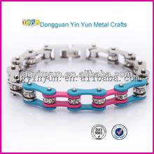 Factory latest make promotion activity for bike chain rhinestone bracelet