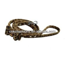 """Fashion Leopard Print Velvet Leather Bowtie Dog Pet leash/1/2""""*120cm(47"""")"""