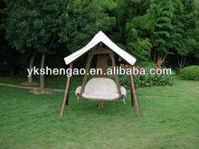 2 seater outdoor garden wooden chair swing