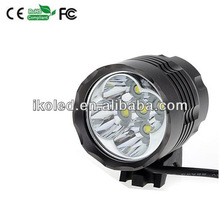 Securitylng High Power 6000 Lumen 5 x CREE XML T6 LED Bike Lamp Bicycle Head Light & Headlight Headlamp + 6400mAh Battery