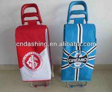 Folding trolley travel bag with wheels