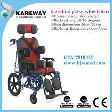 Steel handicapped wheelchair for cerebral palsy children