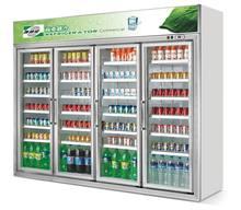 Commercial Luxury four Glsss Door Beverage cooler