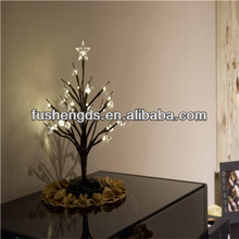 Lightshare NEW 13.8 Inch Double Functioned Power 24 LED Bonsai Tree,acrylic Ornaments, Warm Light