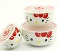 Original personalizado porcelana tigela de sopa com tampa