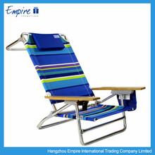 High quality cheap folding reclining beach chair with armrest