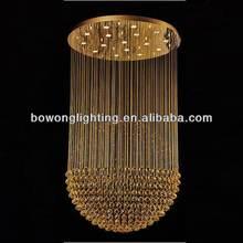 Moda OEM cristalina pendiente de la lámpara, modern kevin reilly altar colgante de la lámpara de luz