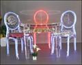Muebles de acrílico, acrílico mesa de comedor y silla de led