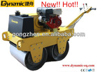 Gasoline HondaGX-160 Double Drum Road Roller DDR60 with hydraulic pump for construction machine