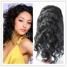 6A grade Mona natural human hair loose wave full lace wig