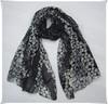 Latest design shawl gilding pattern polyester scarf
