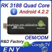 quad core RK3188 & android 4.1 OS New Mini PC Googld TV Box MK809 III