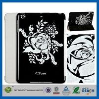 C&T Silver foil blossom sublimation magnetic flip case for ipad mini