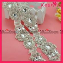 Fashion A class stone high end bridal beaded applique belt WRA-286