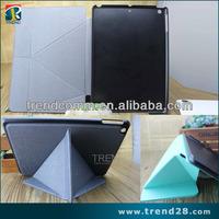 guangzhou wholesale fold design PU case for apple ipad 5