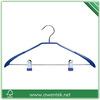 metal clips pvc wrapped metal pants hanger