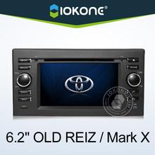 "6.2"" HD 2 din touch screen toyota mark x car dvd player with gps, TMC, camera, mic, dvb-t"
