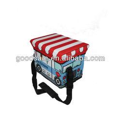 New design!600D polyester Printed Foldable Cooler box cooler stool cooler bag