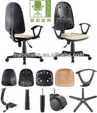 Office chair parts/plastic back seat armrest mechanism gaslift base caster MAC KT-02H Componentes de la silla