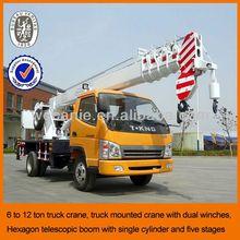 6-12 ton chinese cheap light truck crane, truck mounted crane