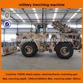 650mm largura e 2000mm profundidade militar máquina de escavação, grande potência militar trencher