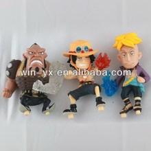 Top grade new design plastic one piece toy figure series