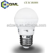 High quality 3C CE ROHS bulbs led 3w e14 with acrylic bulb shell