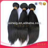 Virgin Malaysia straight 100% Human Hair Extension Natural Color 6A grade unprocessed Remy Hair Wholesale Sample Order