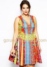 Wholesale new fashion latest design classic high quality plus size lady dress without dress sexy girls photo