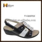 Minyo 2014 fashion cheap high quality elegant flat summer woman sandals
